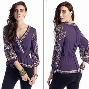 Free People Stitch Up Your Heart Blouse sz S
